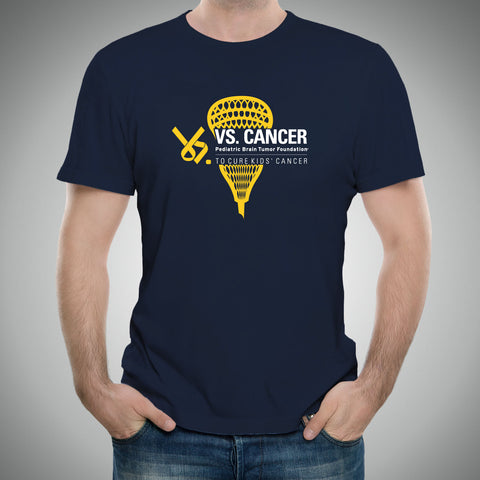 Lacrosse Vs. Cancer 2017 T-Shirt - Navy
