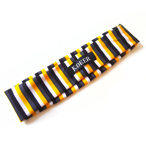 KDeer Haute Headband - Black/Yellow Stripe