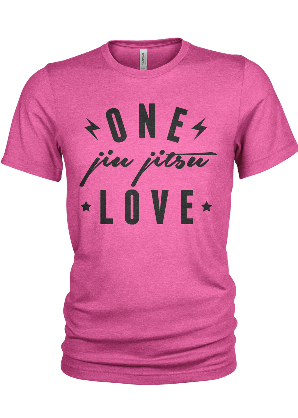 One Love men's t-shirt (hot pink)