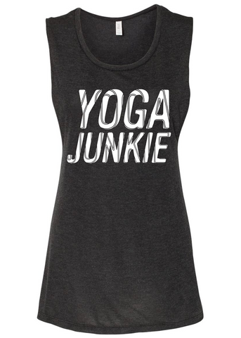Yoga Junkie Flow Tank (charcoal)