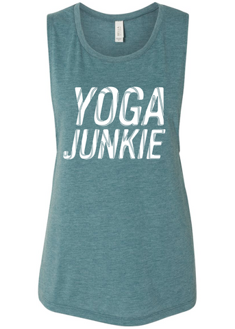 Yoga Junkie Flow Tank (teal)