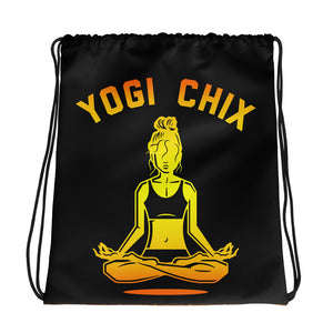 YOGI CHIX Sunset Drawstring bag
