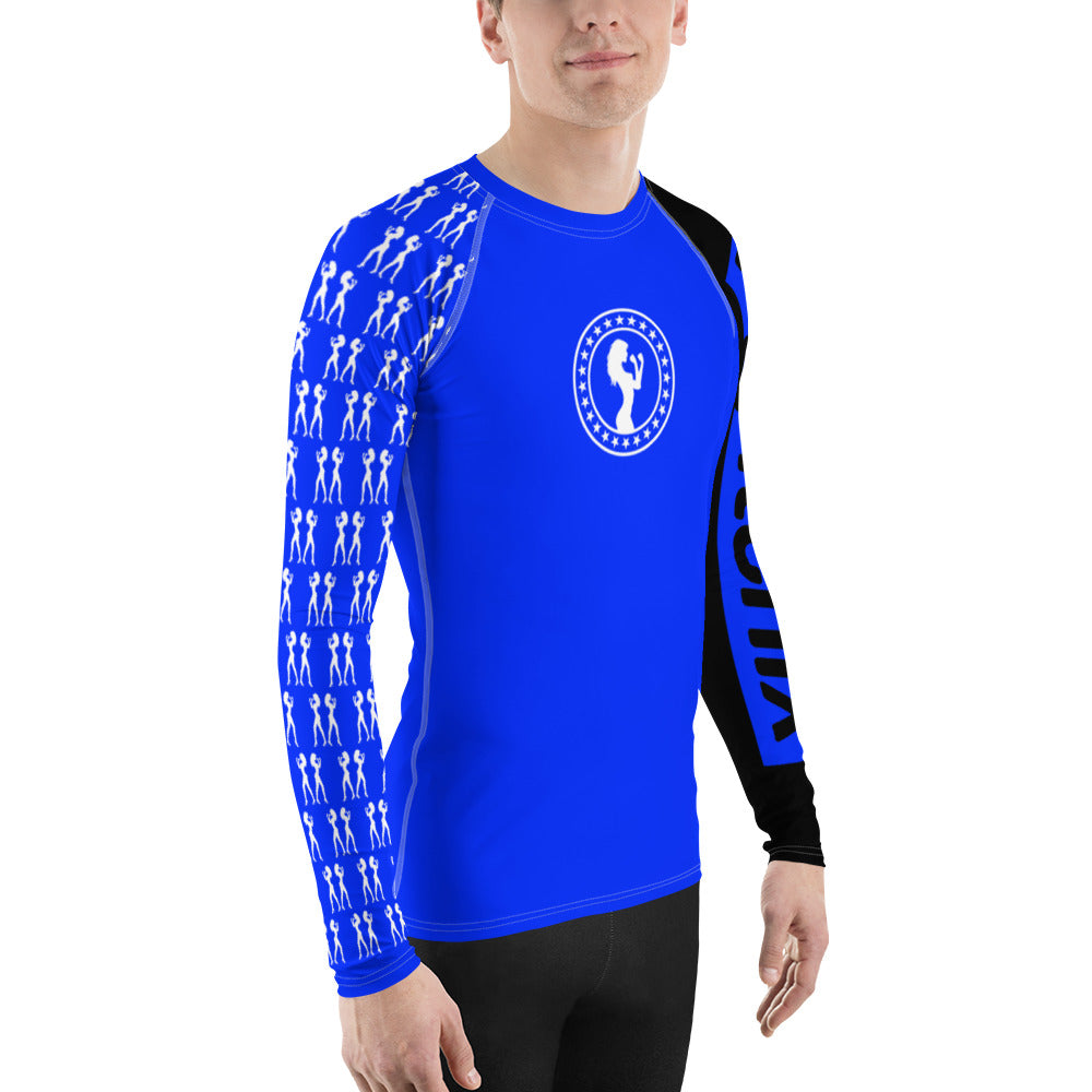 Blue Belt Ranked Men's Rash Guard