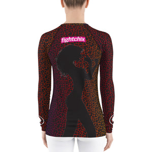 Cracked Rainbow Rashguard (womens)
