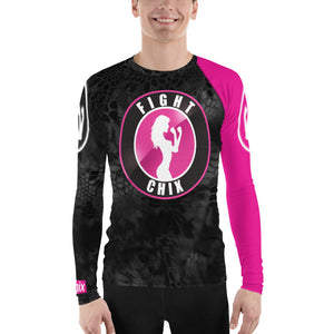 Black + Pink Rashguard (mens)
