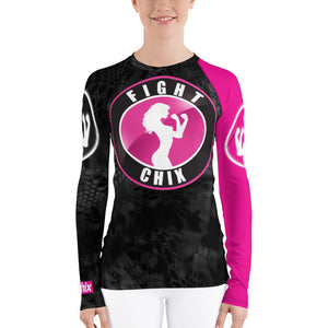 Black + Pink Rashguard (womens)
