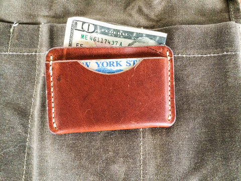 Barebones, Hand-Stitched Leather Wallet