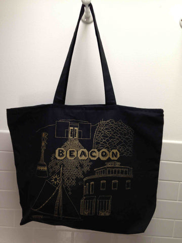 Black Beacon Tote Bag