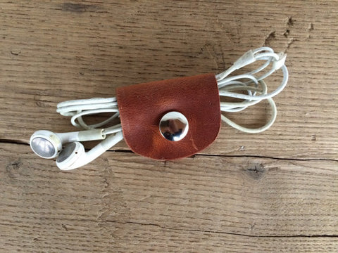 Hand Made Leather Cord Wrap