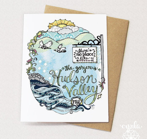 Hand Drawn Hudson Valley Note Cards