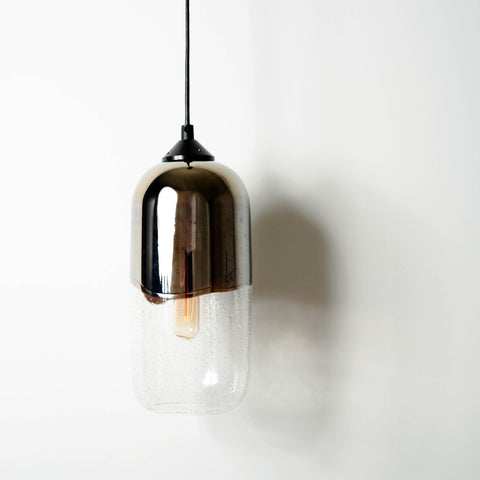 """Helio"" Roundhouse Metallic Pendant Light"
