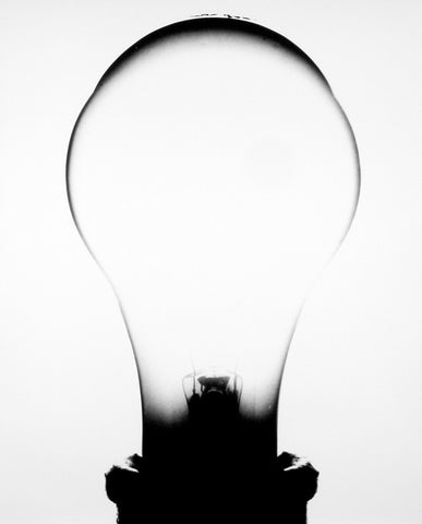 """Light Bulb 2"" Silver Gelatin by Amanda Means"