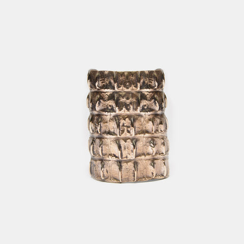 Alligator Bronze Cuff