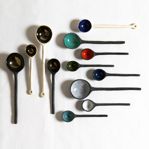 Ceramic Spoons by Andrew Rouse