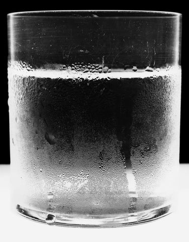 """Water Glass 1"", 2004 Silver Gelatin by Amanda Means"
