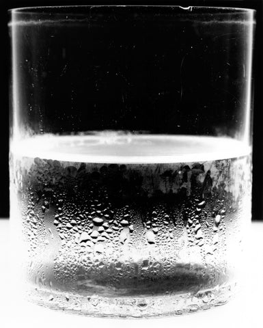 """Water Glass 2"", 2004 (variant) Silver Gelatin by Amanda Means"