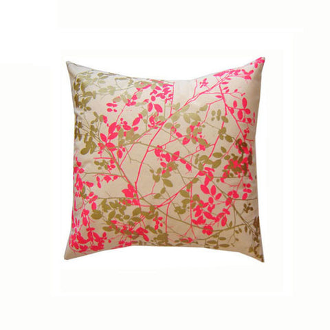 Cascading Leaves Hand Printed Pillow
