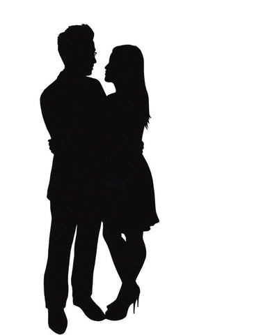 Custom Silhouette Papercutting for the Happy Couple!
