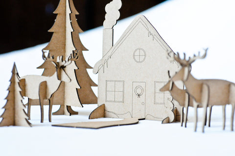 """Instant Holiday"" Tiny Paper Alpine Village"