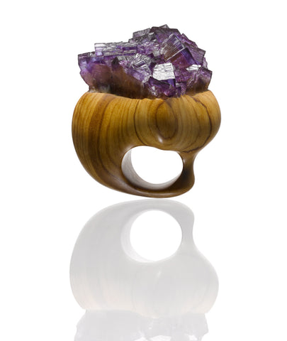 Lavender Kiss Ring by Christine Brandt