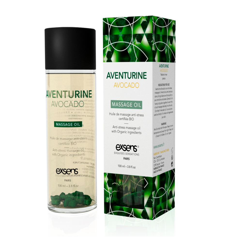 Exsens Aventurine Avocado Crystal Massage Oil