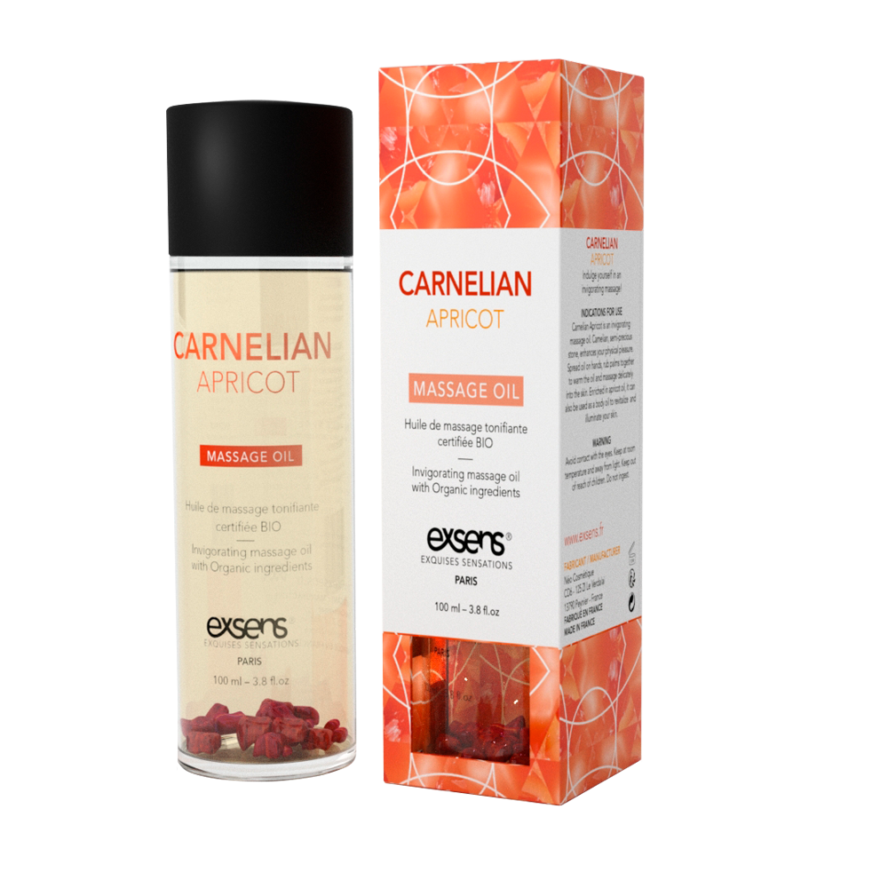 Exsens Carnelian Apricot Crystal Massage Oil
