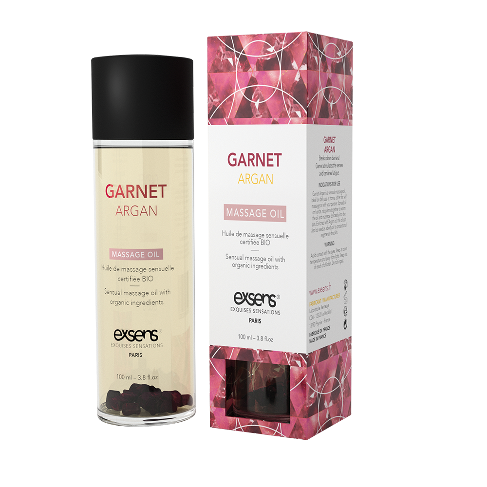 Exsens Garnet Argan Crystal Massage Oil