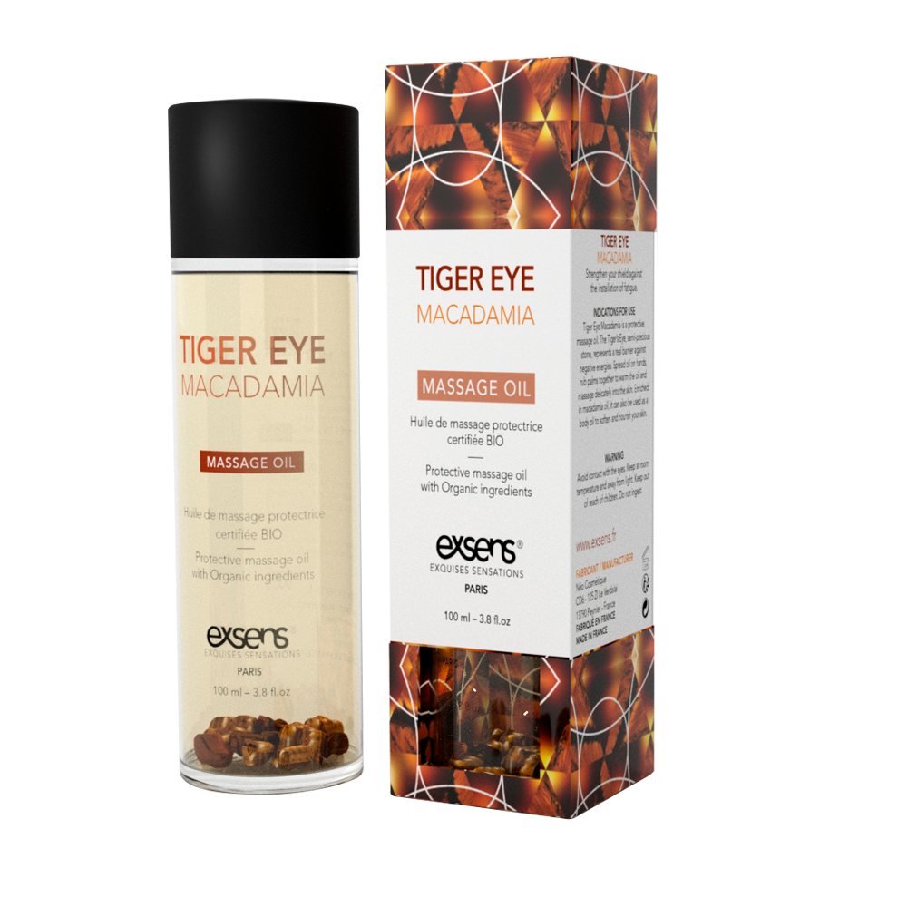 Exsens Tiger Eye Macadamia Crystal Massage Oil