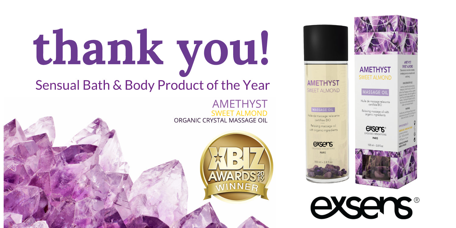 amethyst sweet almond crystal massage oil