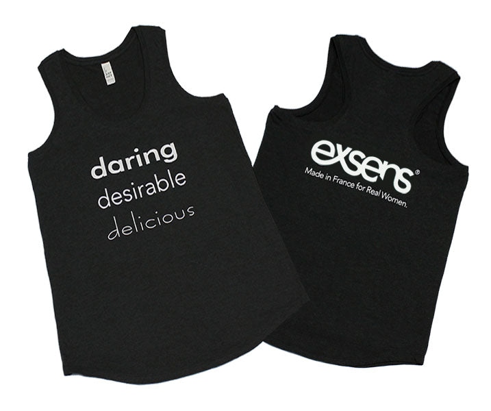yoga tank: daring, desireable, delicious