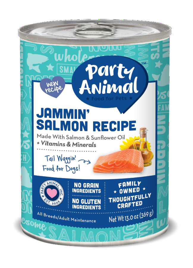 Party Animal Jammin' Salmon Recipe Canned Dog Food – Party Animal ...