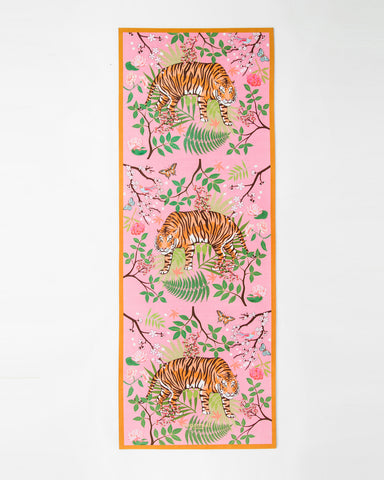 The Striped Charmer  - Suede Yoga Mat (5MM)