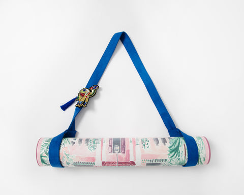 Blue Marrakesh Yoga Mat Carrier - Sugarmat