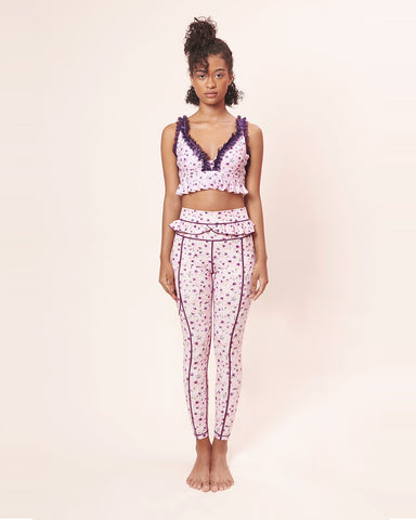 Set Plum Autumn: Bra & Legging