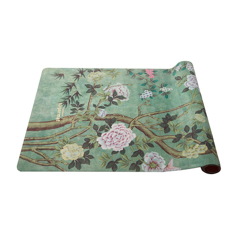 Chinoiserie - Suede Travel Yoga Mat (1MM) - Sugarmat