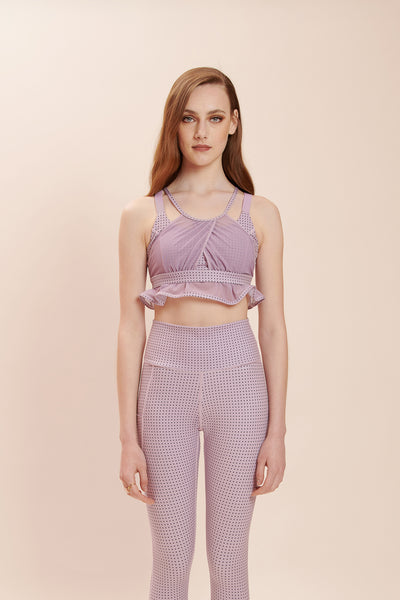 Purple Polka Chic Bra: Lux + Suede-Feel Fabrics