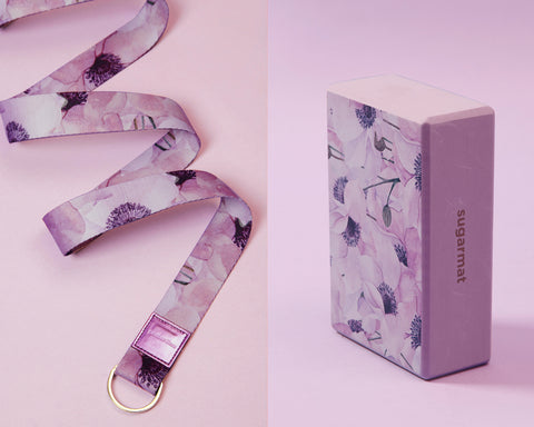 Sugarloot 4: Premium 3mm Mat + Block + Stretching Strap + Carrier