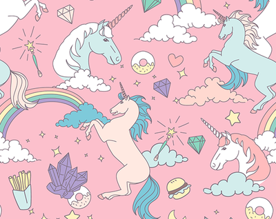 Wunder Unicorn - Kids Suede Yoga Mat (4MM) - Sugarmat
