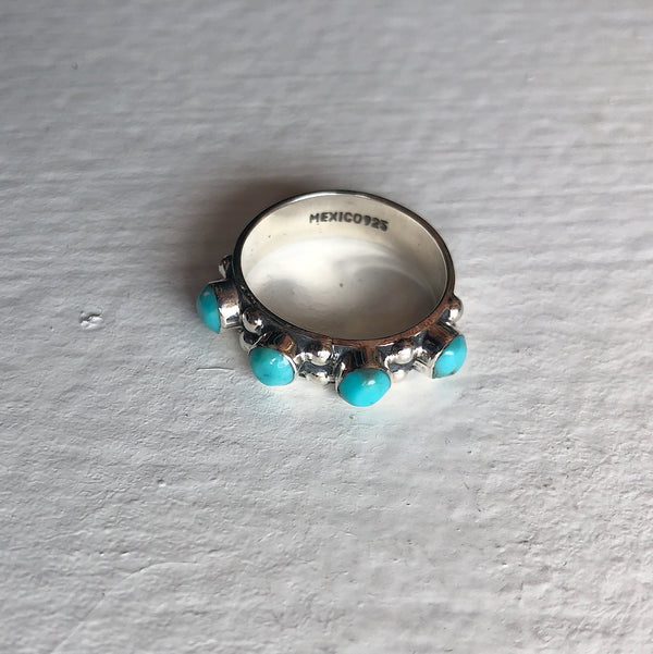 4 TURQUOISE STONE STACKER RING