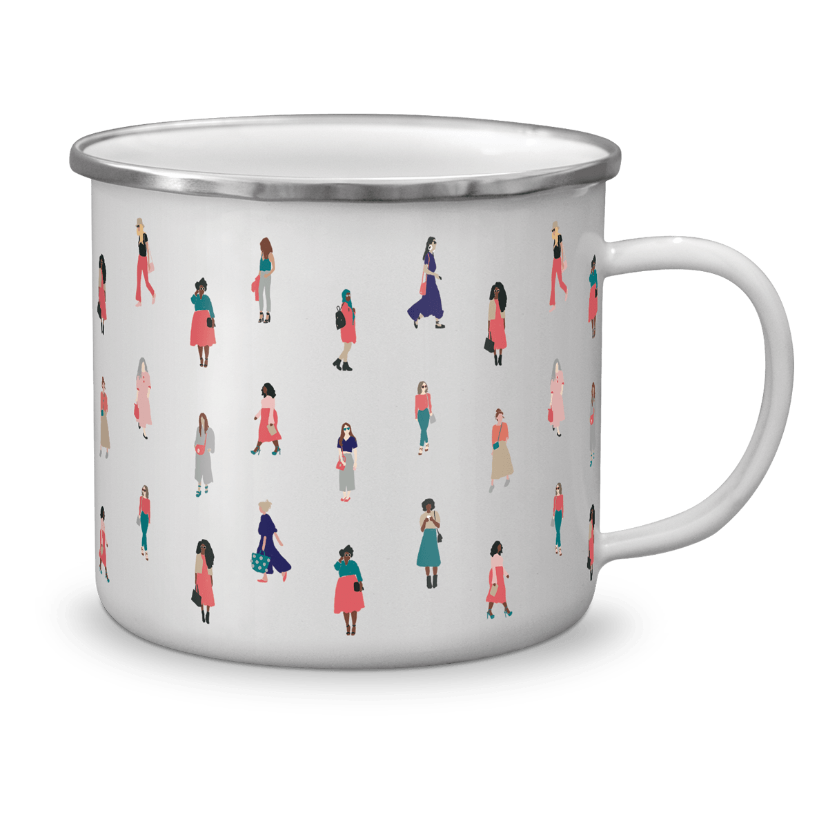 YES SHE CAN ENAMEL MUG