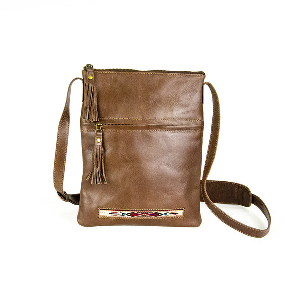 WOVEN LEATHER CROSSBODY BAG
