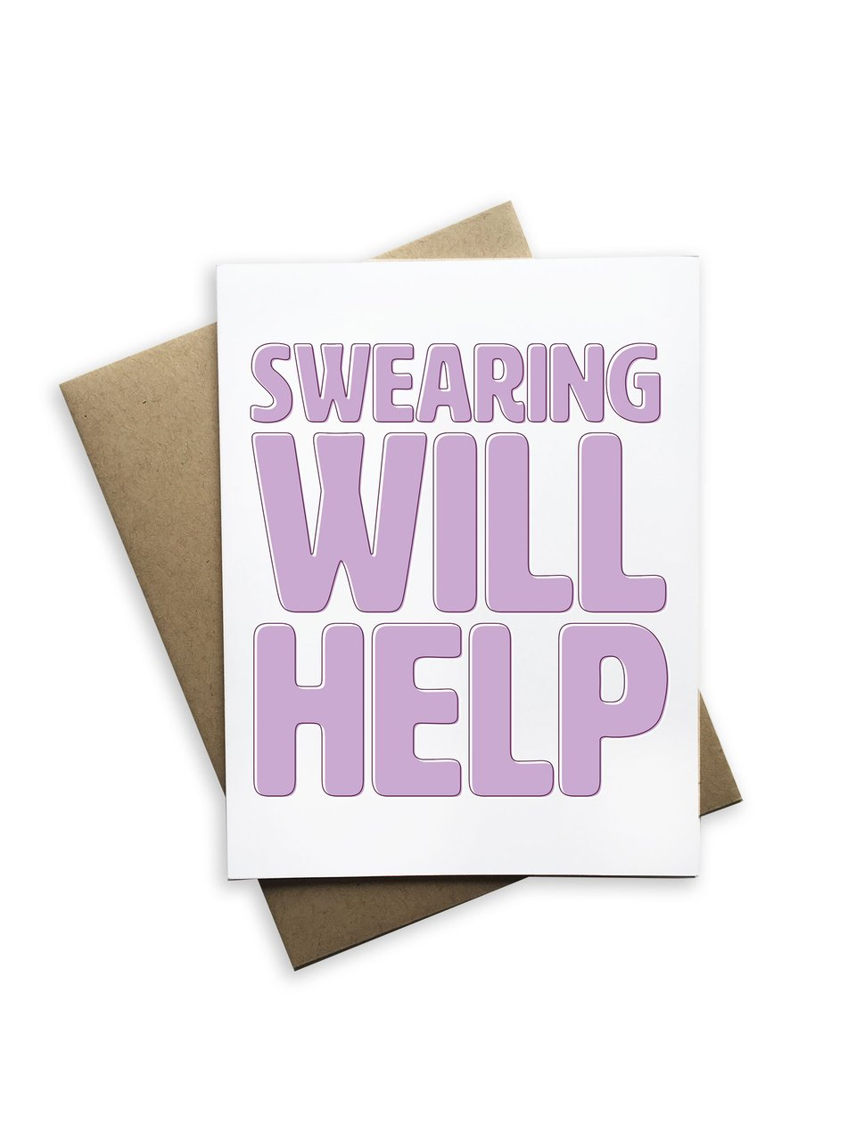 SWEARING HELPS CANCER CARD