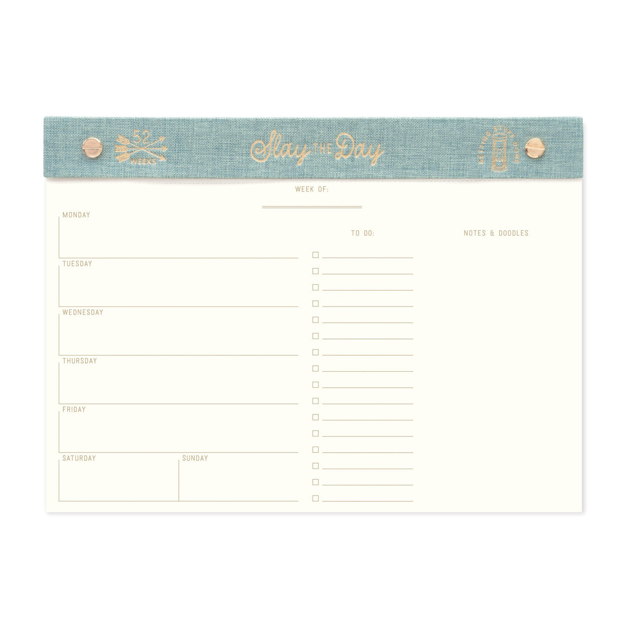 SLAY THE DAY WEEKLY PLANNER DESK PAD