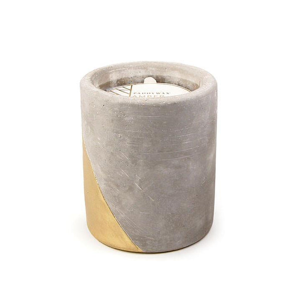 AMBER AND SMOKE CONCRETE POT CANDLE