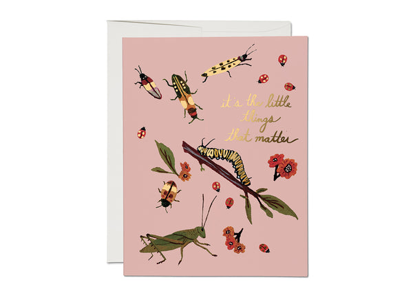 LITTLE BUGS FOIL ENCOURAGEMENT CARD