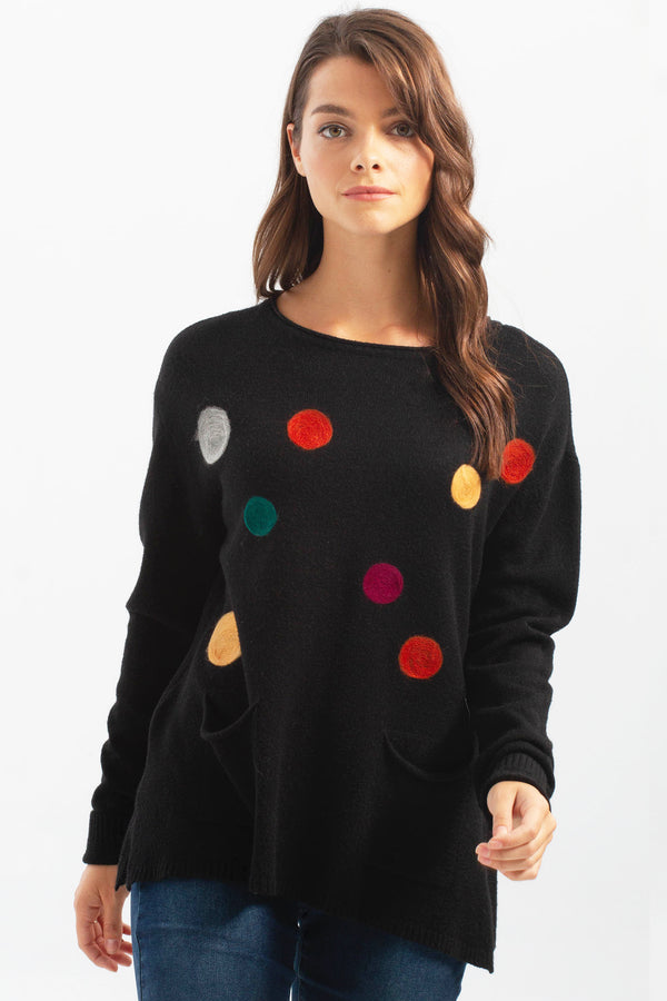 DOTS OF FALL SWEATER