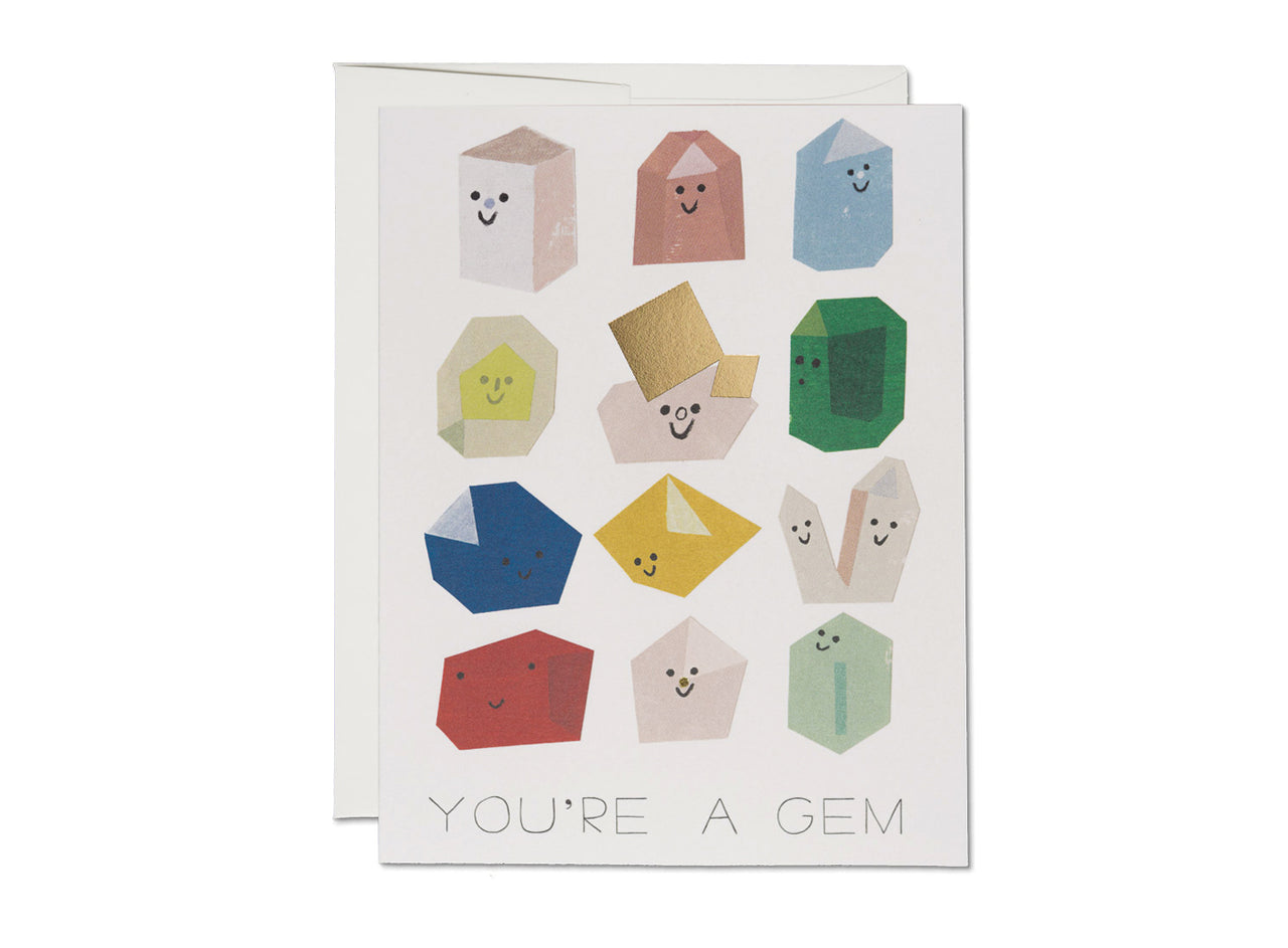 GEM BUDDIES FOIL FRIENDSHIP CARD