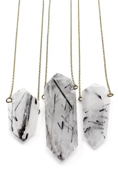 HIVE TOURMILATED QUARTZ NECKLACE