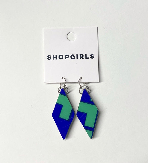 DOUBLE DIAMONDS EARRINGS