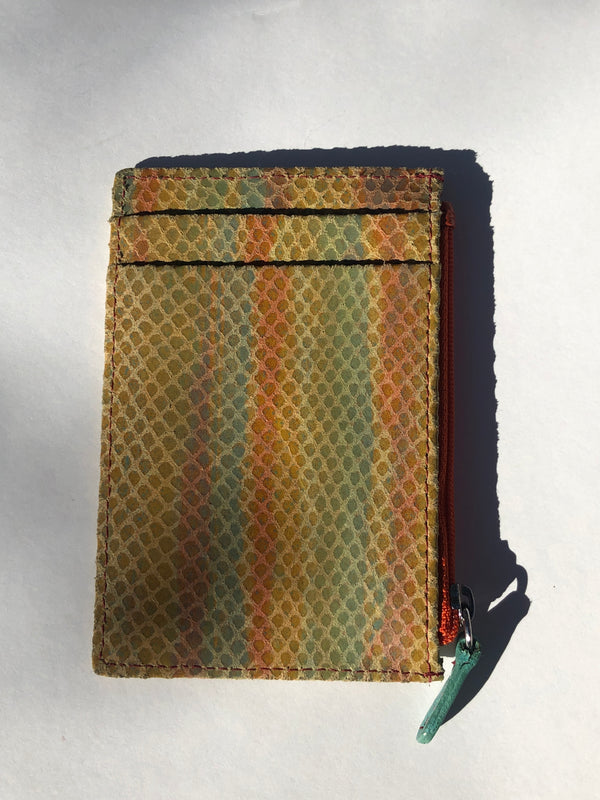 MULTI COLORED TEXTURED WALLET INSERT